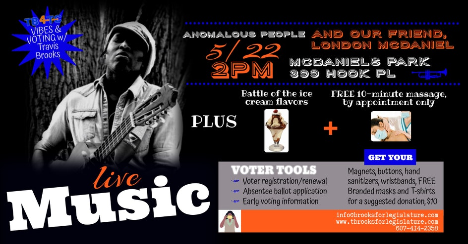 Vibes & Voting at McDaniels Park
